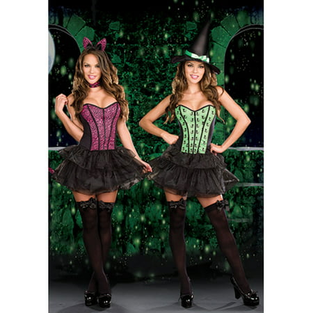 Sexy Adult Dreamgirl Reversible Cat / Witch Costume Dreamgirl 7589 - Witch Cat Costume
