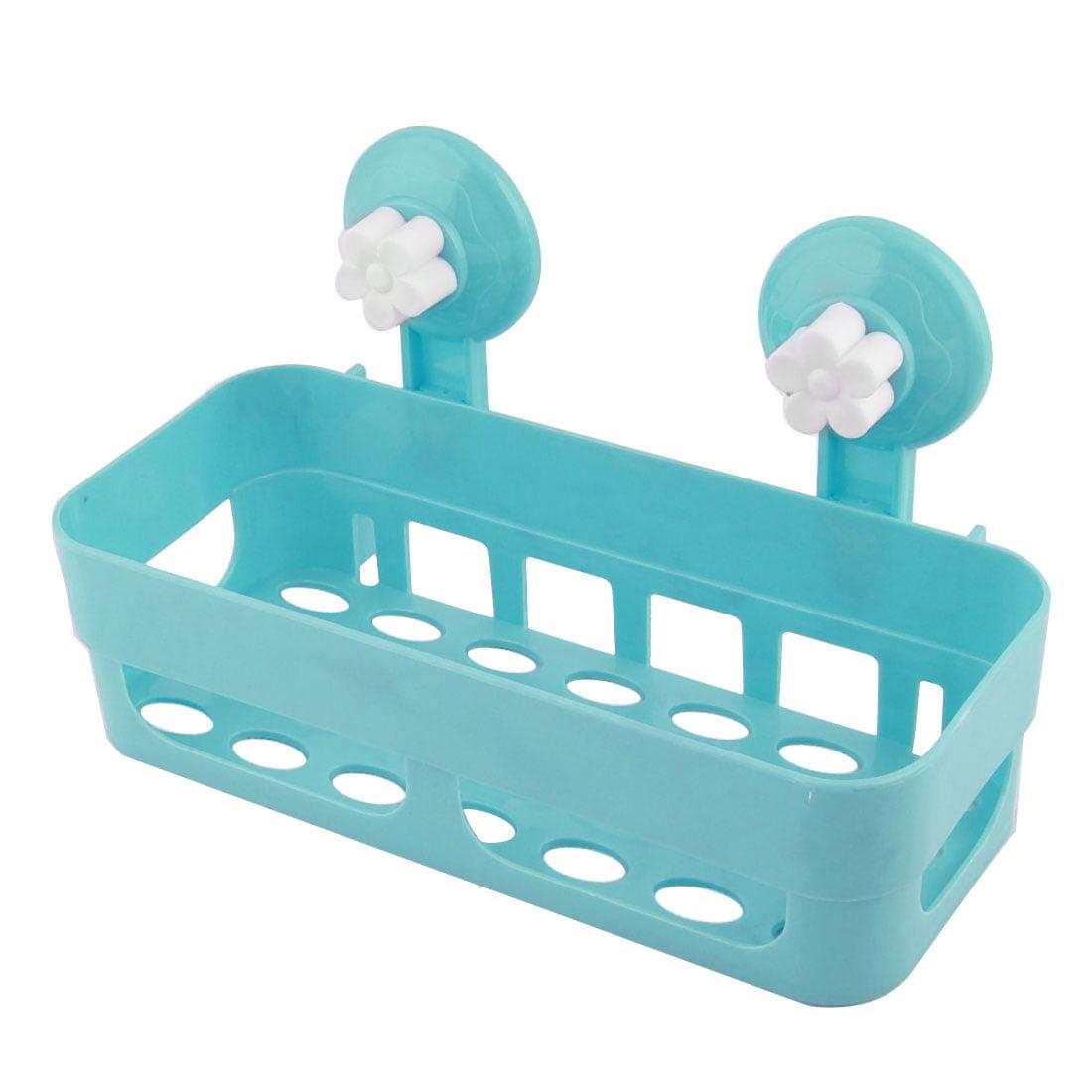 Bathroom Rectangle Plastic Commodity Organize Suction Cup Shelf ...