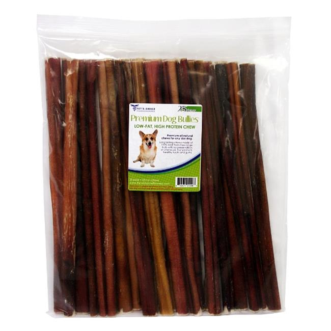 Pets Choice Pharmaceuticals 031CW12-PZ25 12 In. Bully Sticks For Dogs, Premium All Natural Dog Pizzle Chews