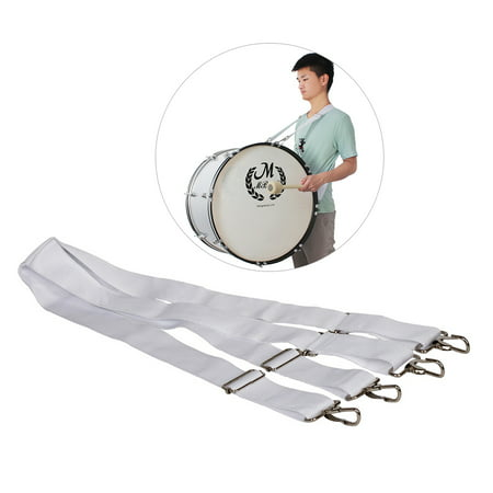 Adjustable Parade Marching Bass Drum Shoulder Strap Sling Nylon Belt Metal Clip Musical Percussion Instrument Parts Accessories