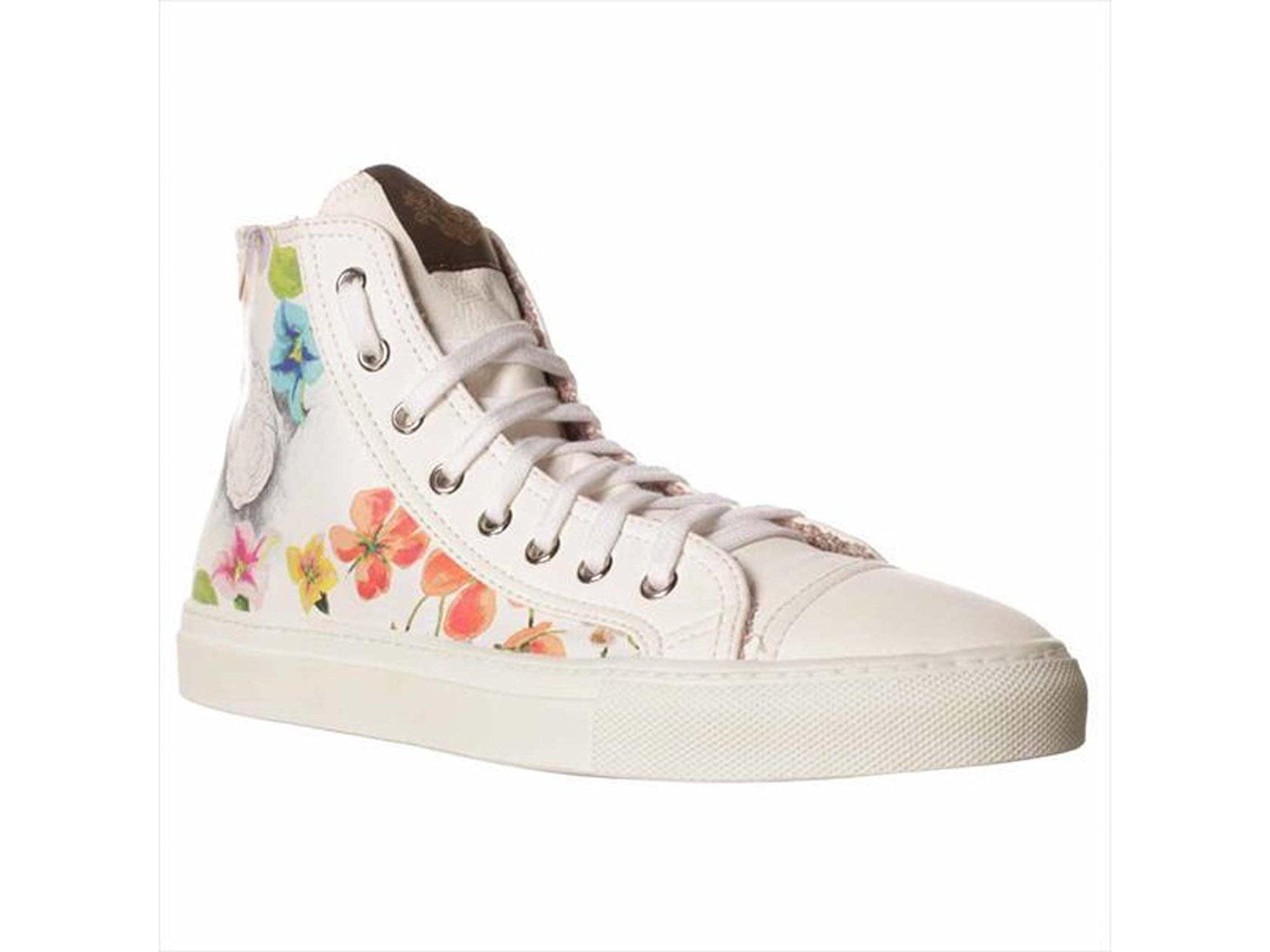 Studswar Sharon High-Top Sneakers - Art Flower, White, Size 7.0