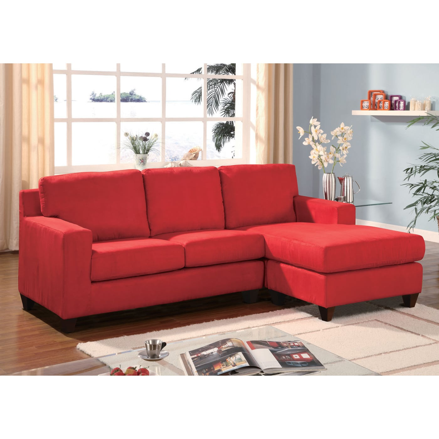 Acme Furniture Vogue Microfiber Sectional Sofa