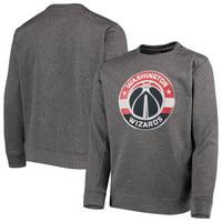 Washington Wizards Youth Performance Fleece Crew Sweatshirt - Heathered Gray