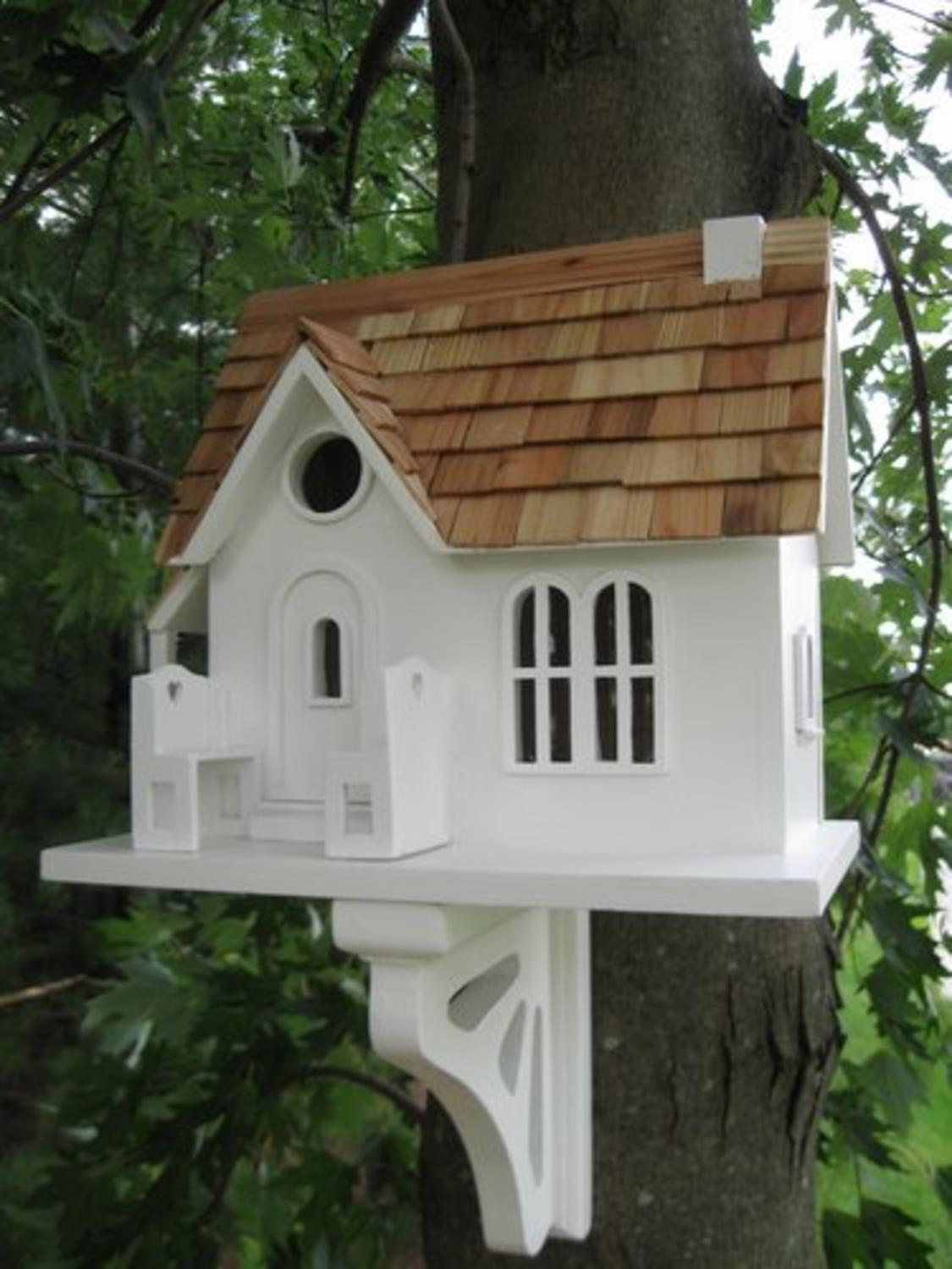 "11"" Fully Functional Homely Ranch Style Cottage Birdhouse by CC Home Furnishings"