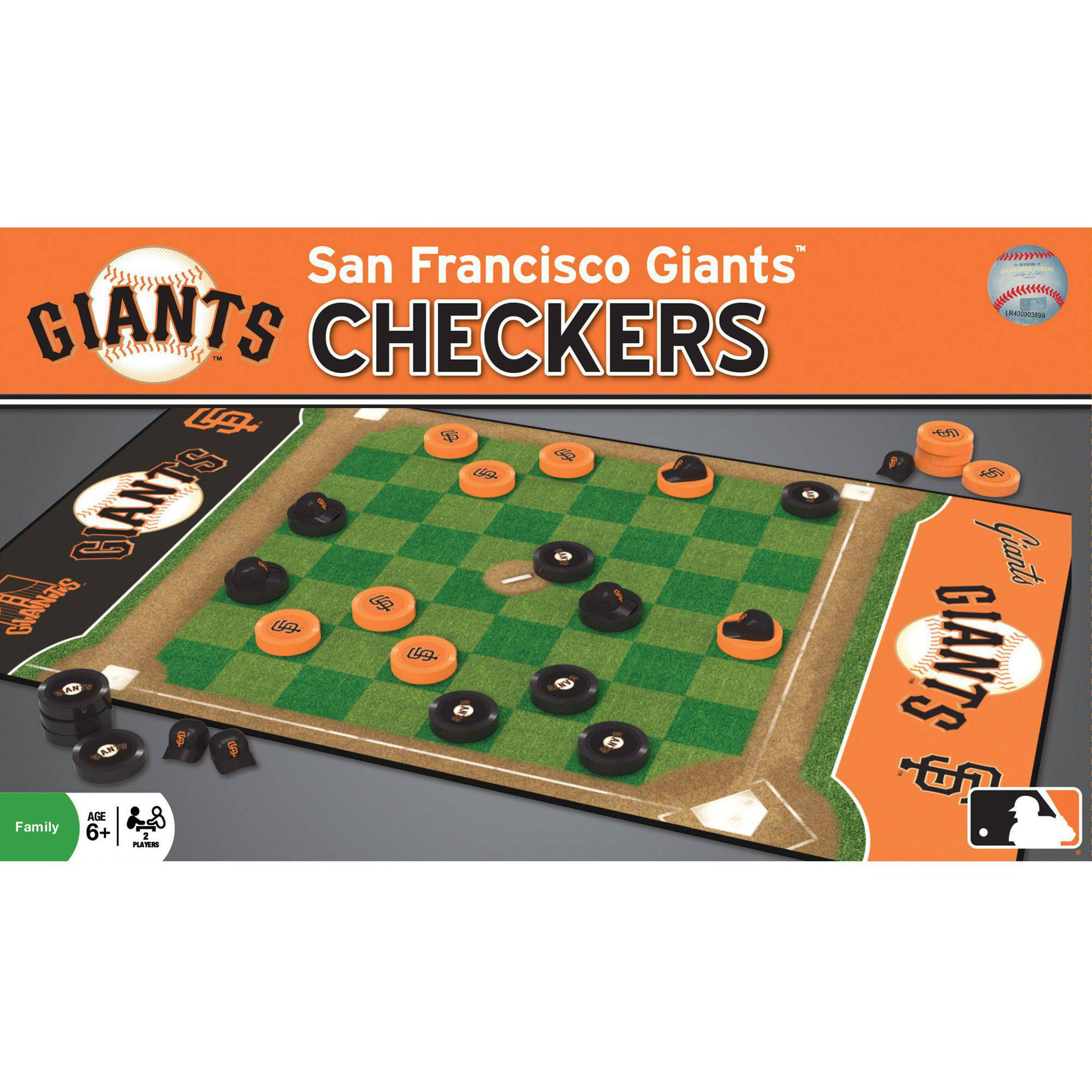 MasterPieces MLB San Francisco Giants Checkers Game