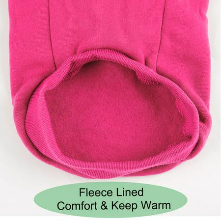 Dog Winter/Spring/Fall Sweatshirt Hoody Pet Clothes Warm Coat Fuchsia L - image 5 de 7