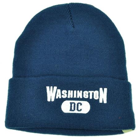Washington DC Virginia Cuffed Navy Blue USA Capital Knit Beanie City Kirk (Stores In The Capital City Mall)