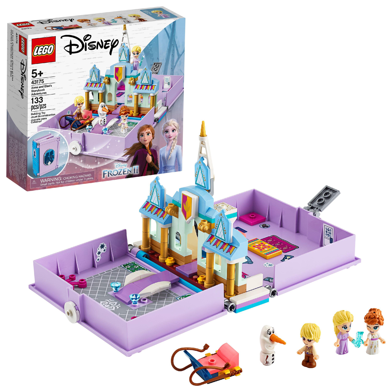 LEGO Disney Anna and Elsa's Storybook Adventures Princess Building Playset 43175