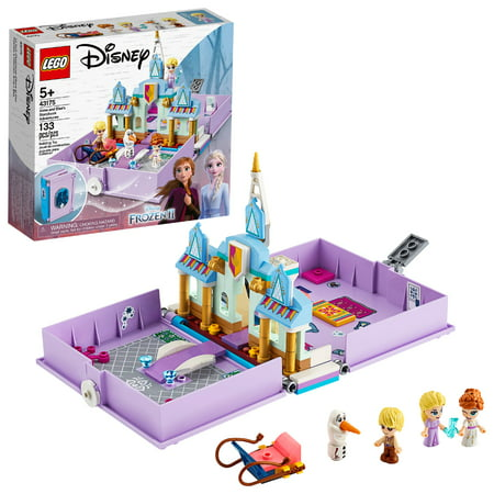 LEGO Disney Anna and Elsa's Storybook Adventures Princess Building Playset 43175