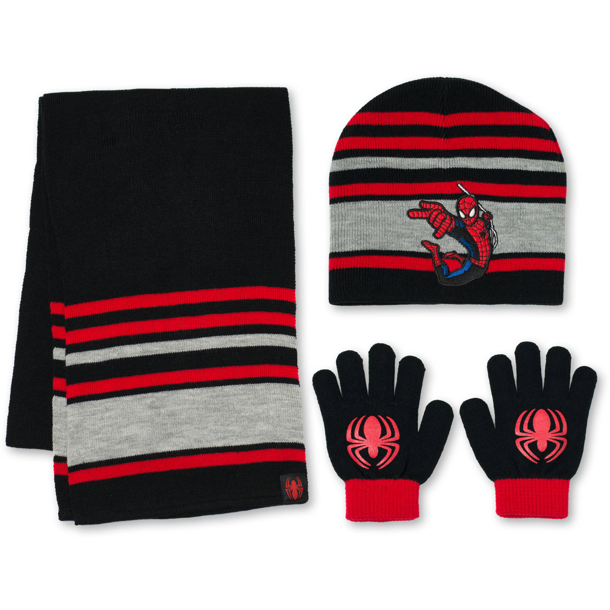 Spiderman 3Pc Hat, Glove, Scarf Set