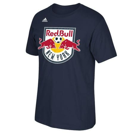 New york red bulls adidas mls primary logo men 39 s short for Red bull logo shirt
