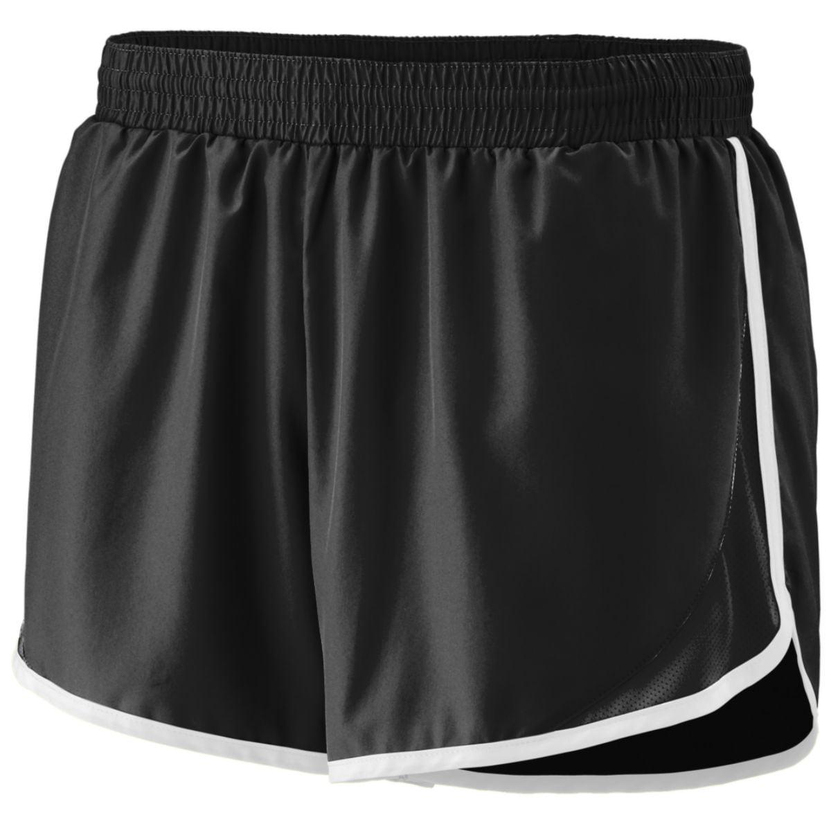 Augusta Sportswear Women's Junior Fit Adrenaline Short M Black Black White by Augusta
