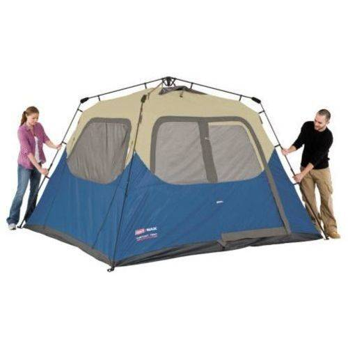 Coleman 12-Person Double Hub Instant C&ing Tent Image 3 of 6  sc 1 st  Walmart & Coleman 12-Person Double Hub Instant Camping Tent - Walmart.com