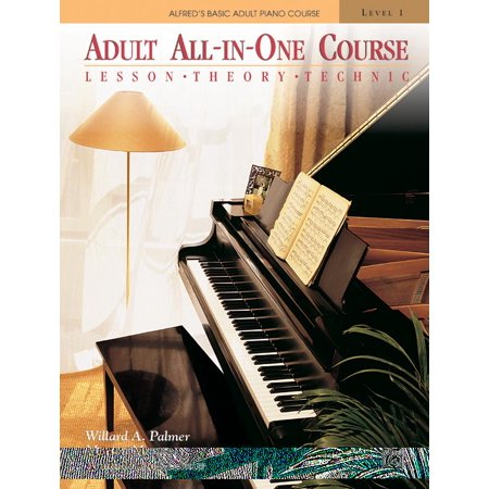 Alfred's Basic Adult All-In-One Course, Bk 1 : Lesson * Theory * Technic, Comb Bound Book for $<!---->