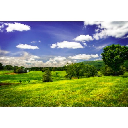 Gango Home Decor Virginia Foothills II by Alan Hausenflock (Printed on Paper); One 36x24in Fine Art Paper Giclee Print