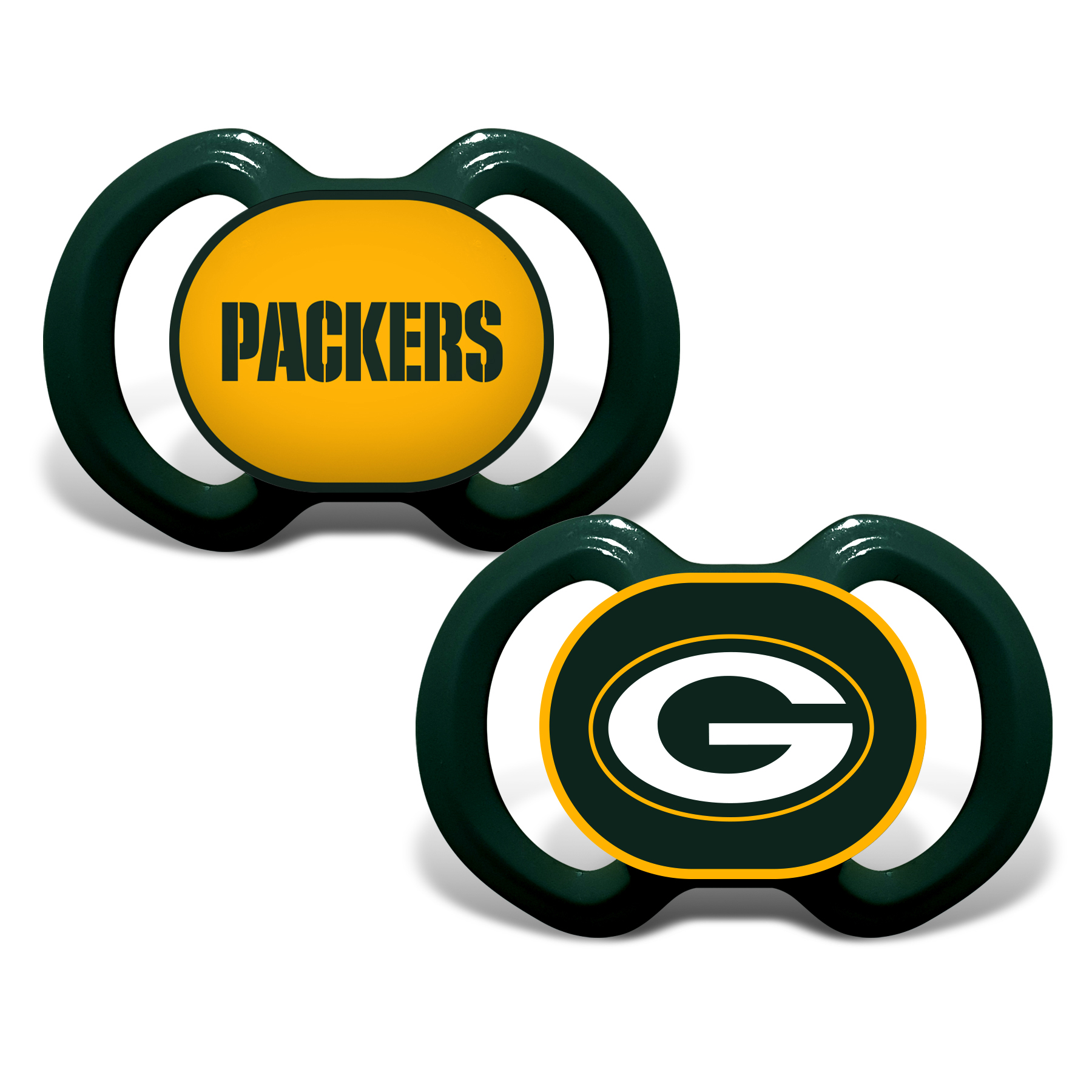 NFL Green Bay Packers 2-Pack Pacifiers