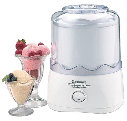 Cuisinart Automatic Frozen Yogurt,Ice Cream, and Sorbet Maker- White ICE-21