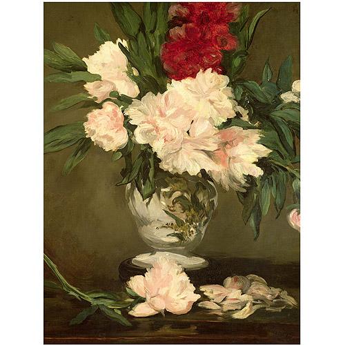 "Trademark Fine Art ""Vase of Peonies 1864"" Canvas Art by Edouard Manet"