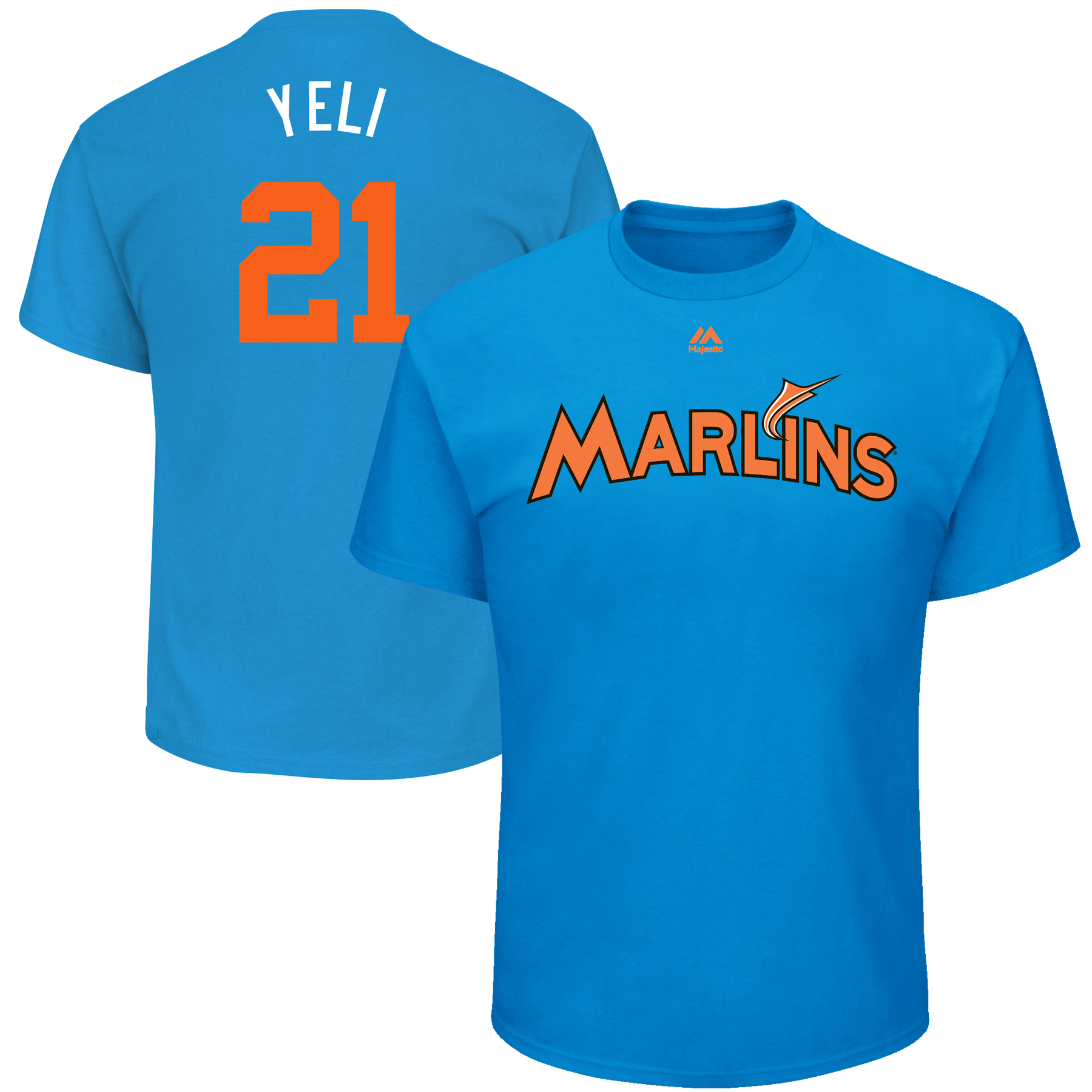 "Christian Yelich ""Yeli"" Miami Marlins Majestic Youth 2017 Players Weekend Name & Number T-Shirt - Blue"