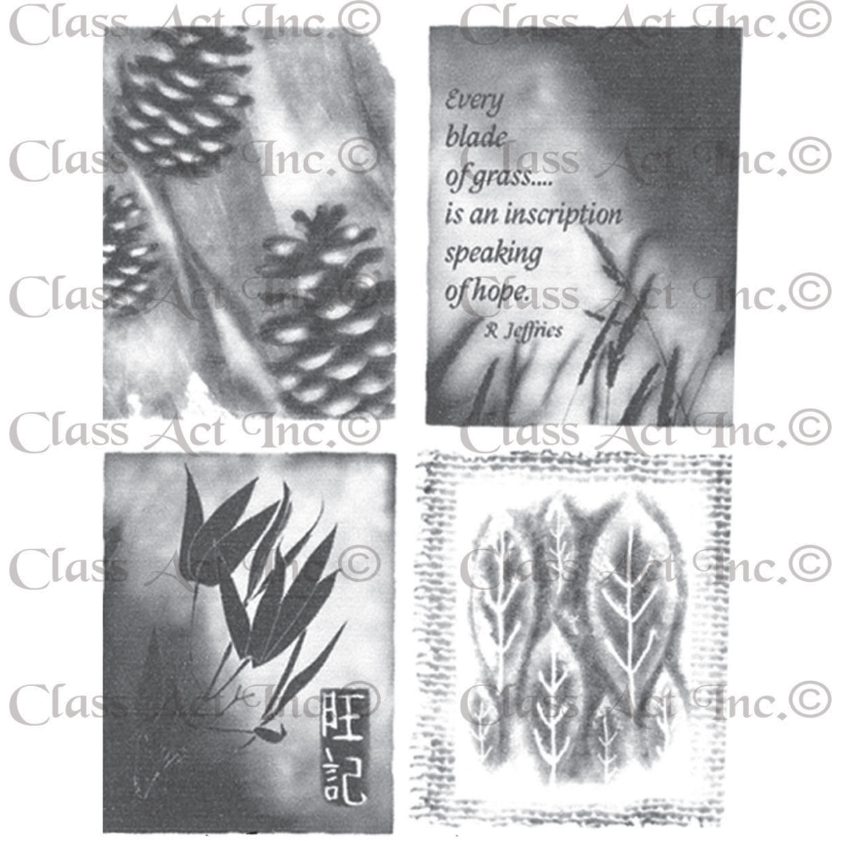 "Class Act Chapel Road 5.75"" x 6.75"" Cling Mounted Rubber Stamp Set"