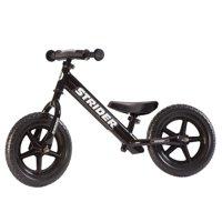 Strider - 12 Sport Balance Bike, Ages 18 Months to 5 Years - Black