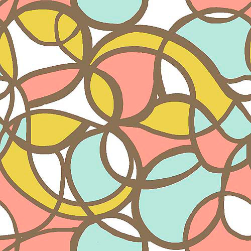 SuedeSays Tangles Fabric by the Yard, Multi-Pastel