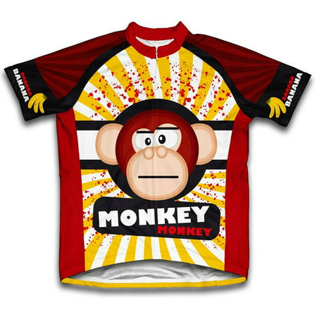 Crazy Banana Monkey Microfiber Short-Sleeved Cycling Jersey, Assorted Sizes