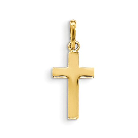 Children's 14k Yellow Gold Polished Latin Cross Pendant
