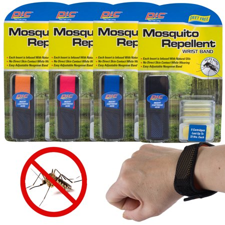 PIC 4 Pack Outdoor Mosquito Repellent Bracelet Deet Free Pest Repeller Insect Repellent For Kids & Adults - Adult Pics Hot