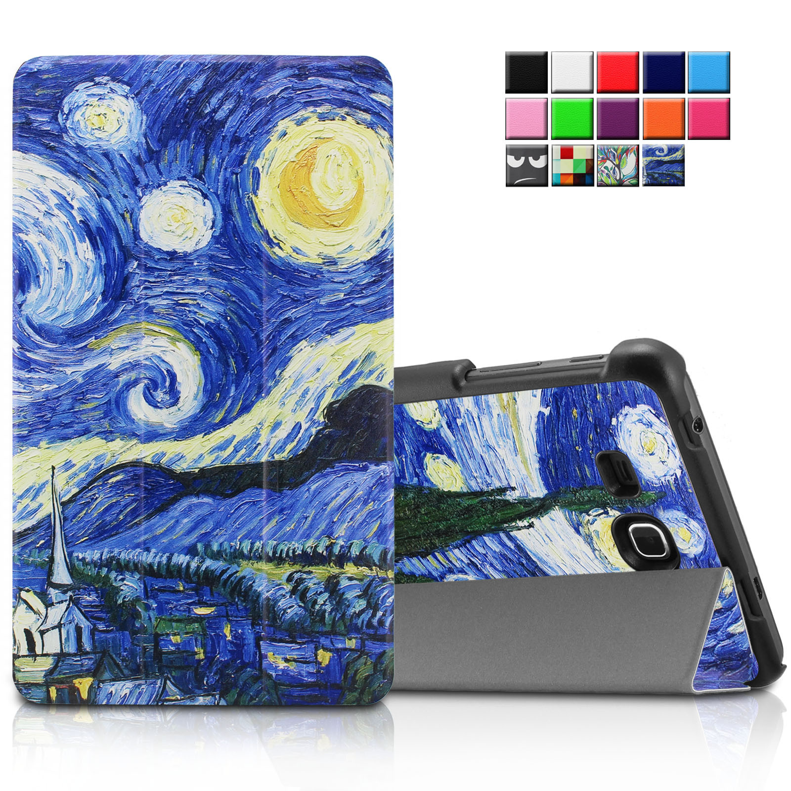 Galaxy Tab A 7.0 Case, Infiland Ultra Smart Cover For Samsung Galaxy Tab A 7.0 7-Inch Tablet, Starry Night