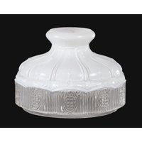 "Aladdin Style 10"" Model 9 Satin and Clear Glass Lamp Shade"