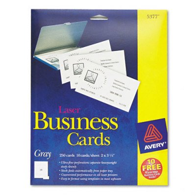 Laser business cards ave5377 walmartcom for Does walmart print business cards