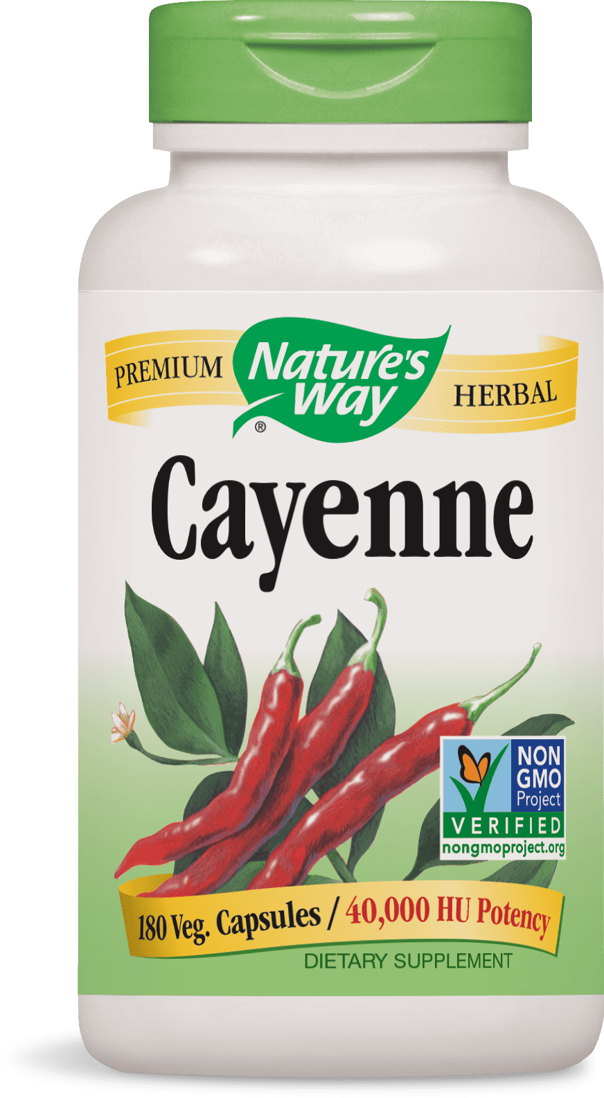 Nature's Way - Cayenne Pepper 450 mg 100 Capsules 11500 Exp 9 18+ SD