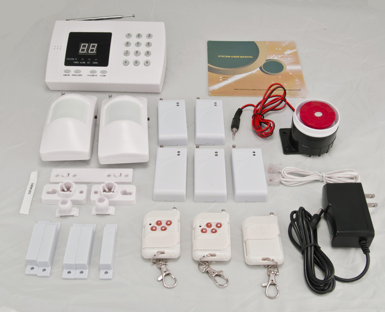 IMeshbean Wireless Home Security Alarm System DIY Kit With Auto Dial U0026  Outdoor Siren Model #001   Walmart.com