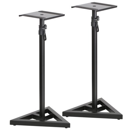 zeny 2x studio monitor speaker stand height adjustable concert band club dj studio pair. Black Bedroom Furniture Sets. Home Design Ideas