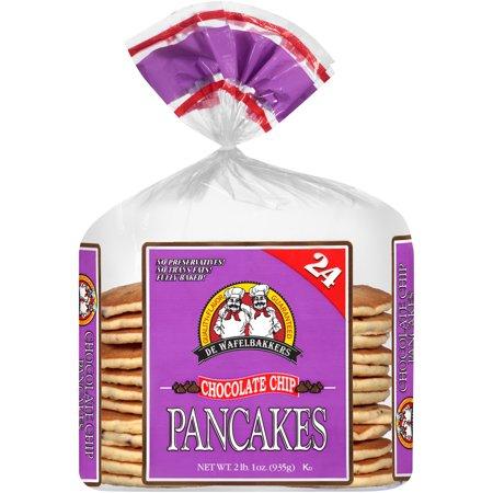 De Wafelbakkers Frozen Chocolate Chip Pancakes 24 Count 2 Lb 1 Oz