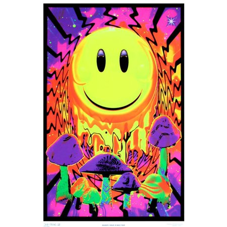 Have a Nice Trip Flocked Blacklight Poster Blacklight Poster - 23x35](Blacklight Room Decor)