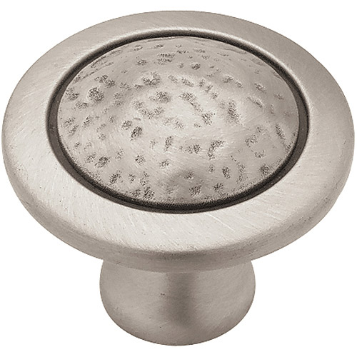 Liberty 38mm Rough and Smooth Knob, Brushed Satin Pewter