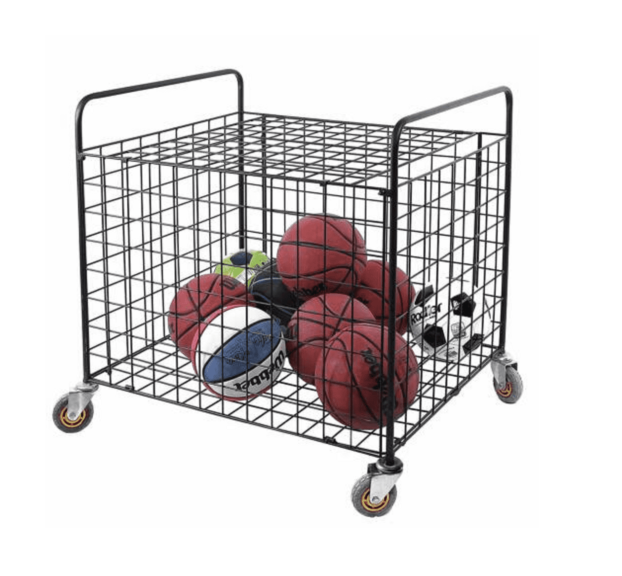 Metal Rolling Multi Sports Ball Storage Basketball, Football Equipment Cart  - Walmart.com - Walmart.com