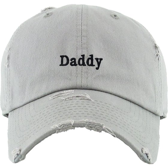 b8e83ca906d04e Daddy Dad Hat Vintage Distressed Cotton Adjustable Baseball Cap -  Walmart.com
