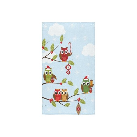 "ZKGK Christmas Owls Set Hand Towel Bath Towels For Home Outdoor Travel Use 16"" x 28"" Inche"