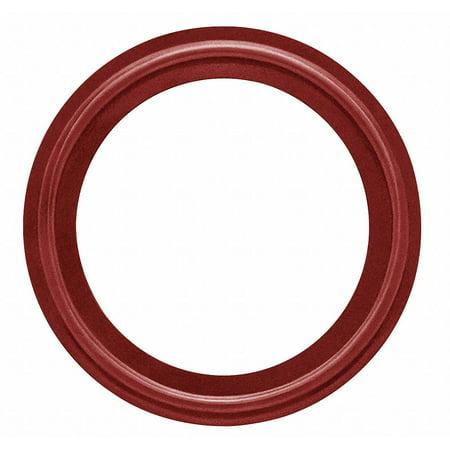 "Tri-Clamp Sanitary Gasket, 0.875"" Inside Dia., 1.984"" Outside Dia., Silicone X-Rayable/Metal Detecta"
