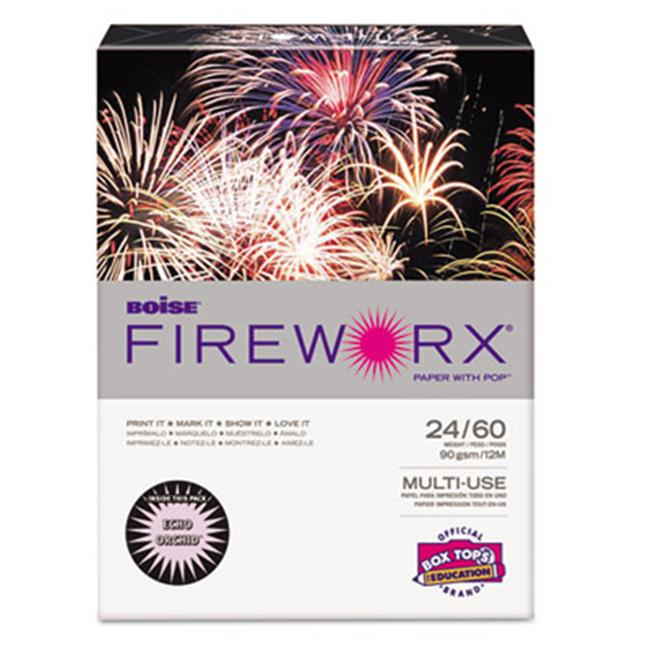 Boise MP2241-OR FIREWORX Colored Paper  24lb  8.5 x 11  Echo Orchid  500 Sheets-Ream