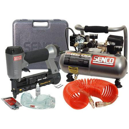 Micro Compressor Nebulizer - SENCO PC0974 FinishPro Micro Pinner and Compressor Combo Kit