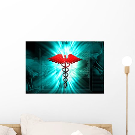 - Medical Caduceus Sign Wall Mural by Wallmonkeys Peel and Stick Graphic (18 in W x 12 in H) WM202715