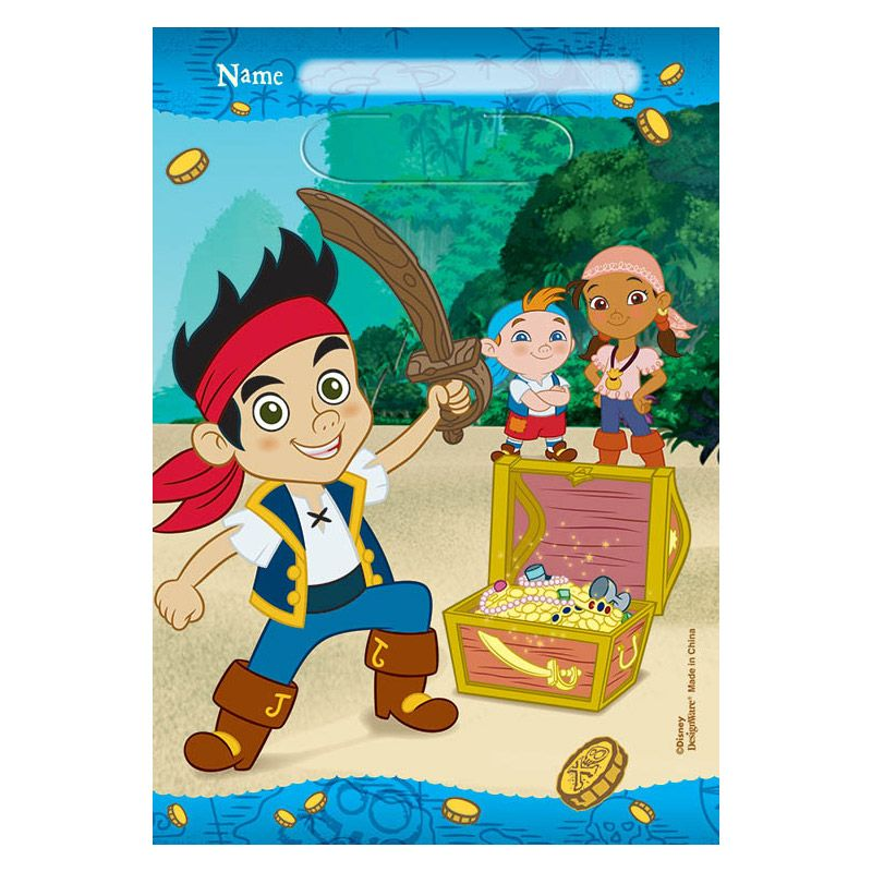 Jake And Neverland Pirates Favor Lootbags (8 Pack) - Party Supplies
