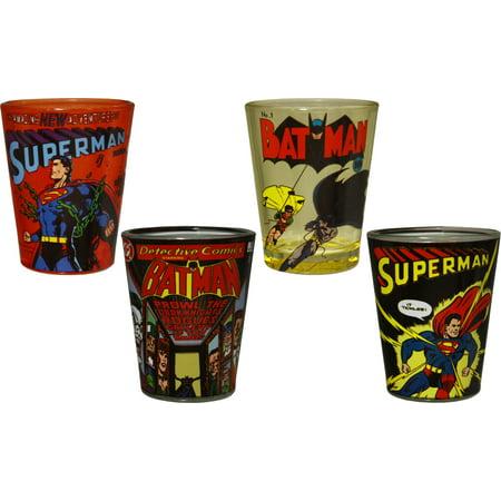 DC comics superhero shot glasses