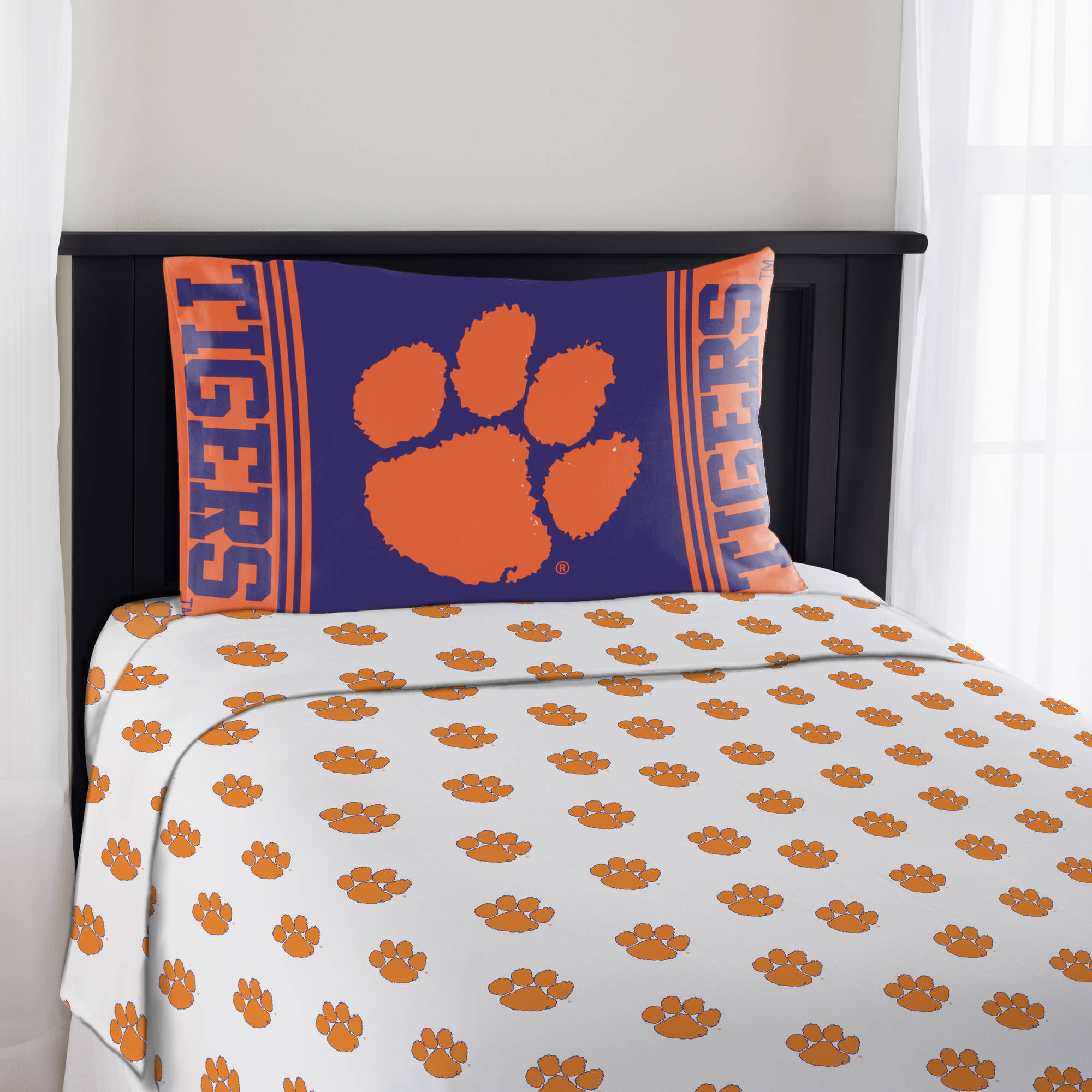 """NCAA Clemson Tigers """"Mascot"""" Sheet Set"""