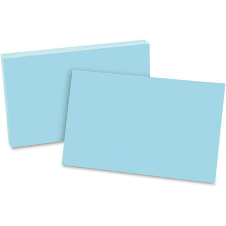 Blank Index (Oxford, OXF7520BLU, Colored Blank Index Cards, 100 / Pack )