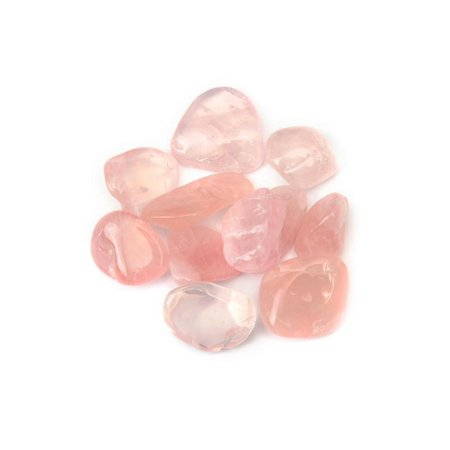 10Pcs Rose Quartz Tumblestones  Crystal Gemstone 18mm - 22mm Wholesale